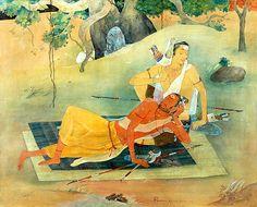 Kala Ksetram, Parashurama and Karna by  Ajoy Kumar Ghose