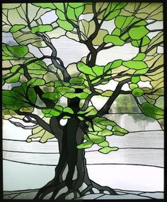tree stained glass panel - Google Search