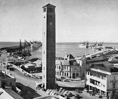 The Camponile.landmark to Port Elizabeth Port Elizabeth South Africa, Old Port, Air Bnb, Historical Pictures, Black And White Pictures, Lighthouses, Fast Cars, Black And White Photography, Paris Skyline