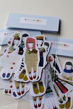 Sticker Set - Little Papercuts; stocking stuffers