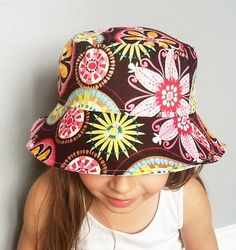 Carnival Bloom Children's Reversible Bucket Hat #handmade