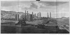 [Volume II. Voyage par la Moscovie, en Perse et aux Indes orientales. Pl. 4 dépl. entre p.270-271 : Perse.] Quatrième vue de Persépolis. [Cote : Réserve A 200 294 v1 v2] | Cornelis de Bruijn | Gallica