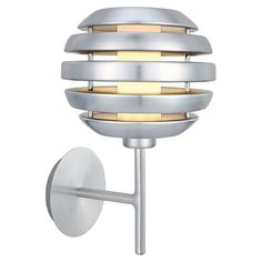 Aluminum wall sconce with an open sphere silhouette.  Product: Wall sconceConstruction Material: Aluminum