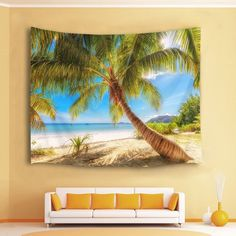 Discover the best beach themed tapestries and coastal wall tapestries. We love beach wall decor and tapestries are affordable and beautiful, which makes them a great option. Hanging Flower Wall, Hanging Art, Tapestry Wall Hanging, Ocean Themes, Beach Themes, Ocean Artwork, Beach Wall Decor, Tree Wall, Tapestries