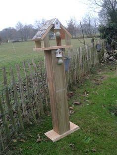 Vogel voederhuis staand