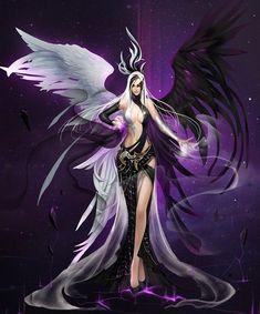 New Items in September Update!-League of Angels Official Site Dark Fantasy Art, Fantasy Girl, Fantasy Kunst, Fantasy Art Women, Beautiful Fantasy Art, Fantasy Warrior, Anime Fantasy, Fantasy Artwork, Warrior Angel