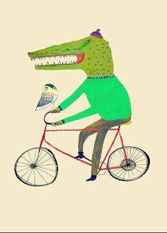 Croco à vélo