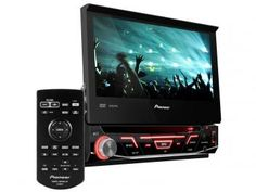 "DVD Automotivo Pioneer AVH-3880DVD Retrátil - Tela 7"" Touch Screen USB"