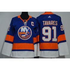 Youth New York Islanders #91 John Tavares Blue Adidas Jersey