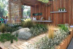 'Peninsula' by James Ross Landscape Design at the Melbourne International Garden Show 2014. Photo by Janna Schreier Organic Gardening, Cabin, House Styles, Outdoor Decor, Home Decor, Homemade Home Decor, Cubicle, Cottage, Interior Design