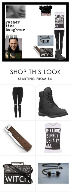 """Father like daugher"" by thin-mint ❤ liked on Polyvore featuring Topshop and Timberland"