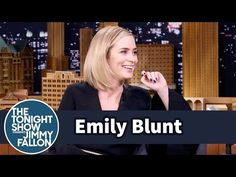 The Tonight Show Starring Jimmy Fallon: Emily Blunt's Kids Are Picking Up Their Dad's American Accent Blunt Talk, English Comedy, Youtube Thumbnail, Tonight Show, Emily Blunt, Stand Up Comedy, Jimmy Fallon, British Actors, You Youtube