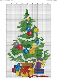 Делимся схемами#2 Christmas Perler Beads, Cross Stitch Christmas Ornaments, Christmas Embroidery, Christmas Cross, Cross Stitch Boards, Cross Stitch Tree, Cross Stitch Baby, Cross Stitch Designs, Cross Stitch Patterns