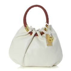 MK Marina Large White Drawstring Bags,It's pretty cool (: I enjoy these bags. Check it out! | See more about michael kors, michael kors outlet and outlets.
