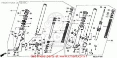 Honda St1100a Paneuropean 2000 (y) Germany / Abs Front Fork (st1100a) - schematic partsfiche