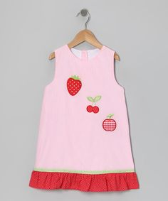 Take a look at this Pink Fruit Swing Dress - Toddler & Girls by Candyland on #zulily today!