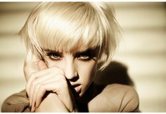 Love this hair!!!!  Agyness Deyn | David Byun #photography | W Korea Magazine March 2009