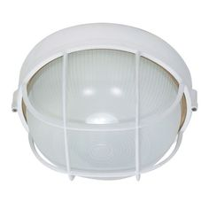 Nuvo Lighting Round Cage Wall Sconce in Semi Gloss White - 60/518 / 60/562