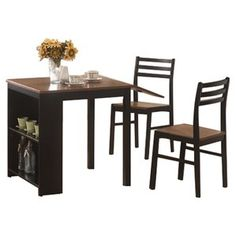 Coaster 3 Piece Breakfast Dining Set With Storage, Cherry/Black  Our Crummy  Table Isnu0027t Cutting It Anymore. | Dream Decor | Pinterest | Coasters, Dining  And ...