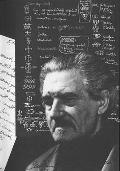 Collage image of Austin Osman Spare by Kenneth Grant.
