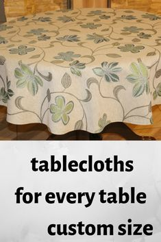 tablecloths Lovely and practical.Beautiful gift for your table! Kitchen Tablecloths, Easter Tablecloth, Tablecloth Size Chart, Personalised Placemats, Dog Nursery, Christmas Table Cloth