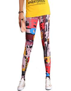funky graffiti retro hip hop art ladies sexy tights leggings $9.58