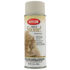Krylon Travertine Tan Make it Stone Textured Paint Stone Spray Paint, Textured Spray Paint, Texture Painting, Stone Painting, Krylon Colors, Spray Paint Countertops, Black Granite, Foam Crafts, Online Painting