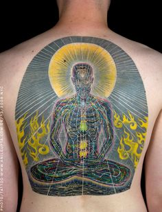 14 Vibrant and Detailed Psychedelic Tattoos Inspired by Alex Grey Wicked Tattoos, Great Tattoos, Beautiful Tattoos, Random Tattoos, Awesome Tattoos, Alex Grey Tattoo, Drug Tattoos, Tatoos, Occult Tattoo