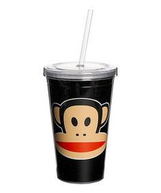 Another great find on #zulily! Black Paul Frank 16.09-Oz. Straw Cup by Paul Frank #zulilyfinds