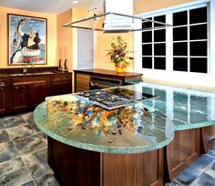 ThinkGlass presents a unique collection of glass countertops that come in various shapes, designs, and colors to find the best for you. Description from stylisheve.com. I searched for this on bing.com/images