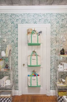 Creating storage space is very important in any room and the same goes for a baby nursery. If you are also looking for baby nursery storage and organization ideas, you can take a look at them here: 1 Kids Bedroom Storage, Nursery Storage, Kids Storage, Toy Storage, Creative Storage, Storage Hacks, Wall Storage, Storage Design, Diy Bedroom