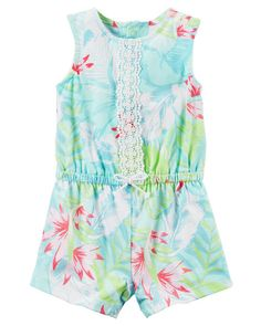 Baby Girl Hawaiian Floral Romper from Carters.com. Shop clothing & accessories from a trusted name in kids, toddlers, and baby clothes.