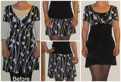 Refashion Co-op: Top and skirt from dress