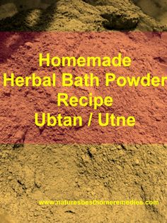 try this homemade Herbal bath powder to get spa treatment at home