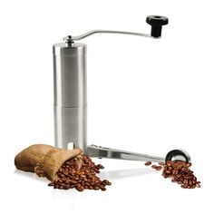 Manual Coffee Grinder,coffee grinders burr (Stainless Steel, with Spoon)