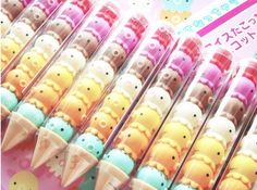 (3) kawaii erasers | kawaii school | Pinterest