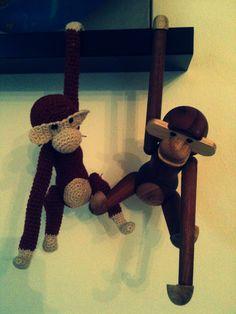 Crochet Kay Bojesen monkey! byoestergaard: februar 2013