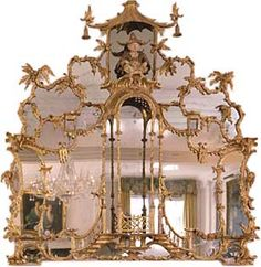 William and John Linnell Giltwood Mirror.