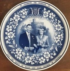 """Decorative 8"""" Wall Plate of Prince Charles & Duchess of Cornwall Marriage"""
