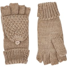 Accessorize Chunky Capped Gloves (510 UAH) ❤ liked on Polyvore featuring accessories and gloves