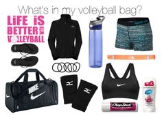 What S In My Volleyball Bag By Olivia5353 Liked On Polyvore Featuring Nike