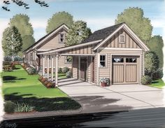 Detached Garage | Garage, Awesome Detached Garage Plans Ideas: Add a Bonus Room and ...