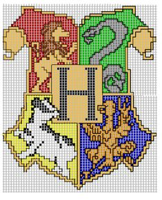 Pixel Art Harry Potter, Harry Potter Perler Beads, Harry Potter Cross Stitch Pattern, Harry Potter Crochet, Harry Potter Quilt, Harry Potter Diy, Cross Stitch Art, Cross Stitch Designs, Cross Stitching