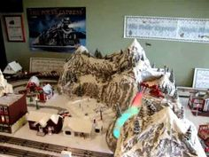 Polar Express Magic Mountain Disappearing Train Layout---- Believe! - YouTube