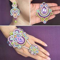 Soutache Bracelet, Crochet Bracelet, Soutache Jewelry, Bead Jewellery, Beaded Earrings, Jewelery, Soutache Tutorial, Earring Tutorial, Handmade Beaded Jewelry