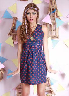 Vestido Retro Dots no www.piorski.com.br