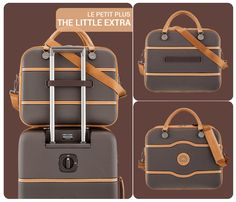 CHATELET cabin tote bag is compatible with your suitcase trolley system! #DELSEY #luggage #travel