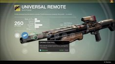 Destiny Exotic Shotgun