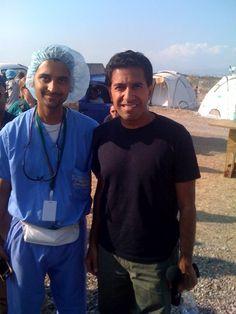 Sacheen H. Mehta with CNN's Dr. Sanjay Gupta after the 2010 Earthquake in Haiti Sanjay Gupta, Haiti, Crime, Crime Comics