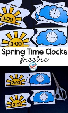 If you are planning on teaching time this spring, grab these printable puzzles for kindergarten! Your teaching time clock puzzles are the perfect printable. Your kindergarteners will love processing telling time with these simple printable puzzles. First Grade Classroom, 1st Grade Math, Math Classroom, Second Grade, Kindergarten Activities, Teaching Math, Kindergarten Freebies, Spring Activities, Primary Teaching
